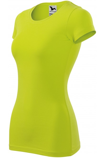 Ladies slim-fit T-shirt Lime green