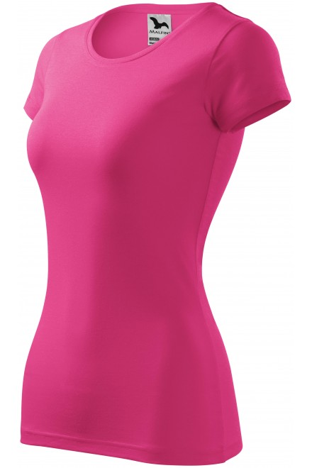 Ladies slim-fit T-shirt Magenta