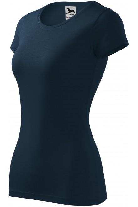 Ladies slim-fit T-shirt Navy blue