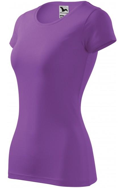 Ladies slim-fit T-shirt Purple