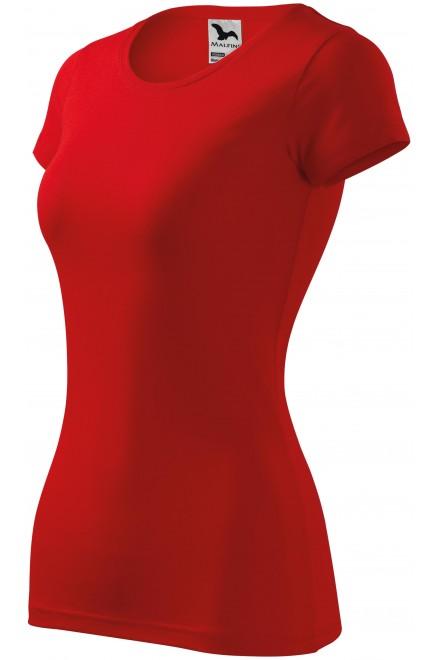 Ladies slim-fit T-shirt Red