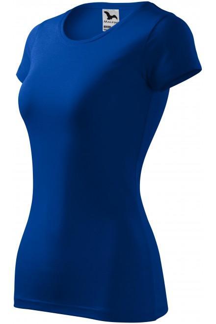 Ladies slim-fit T-shirt Royal blue
