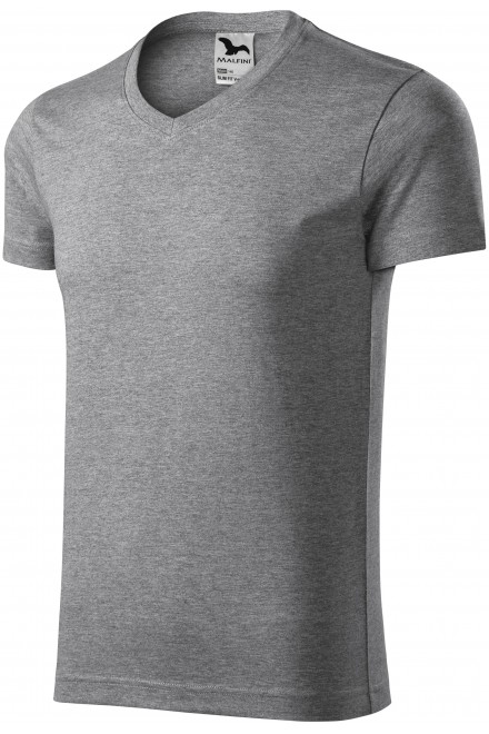 Men's tight-fitting T-shirt Dark gray melange