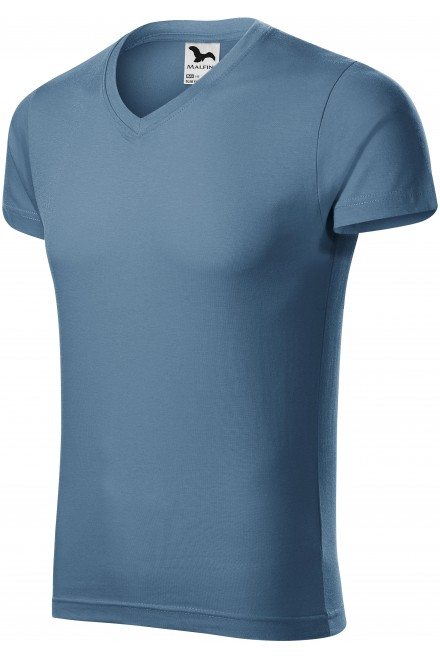Men's tight-fitting T-shirt Denim