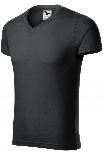 Men's tight-fitting T-shirt Ebony gray