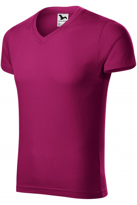 Men's tight-fitting T-shirt Fuchsia red