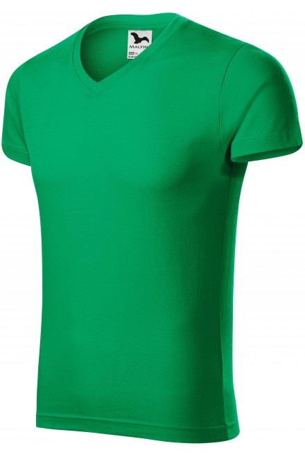 Men's tight-fitting T-shirt Kelly green