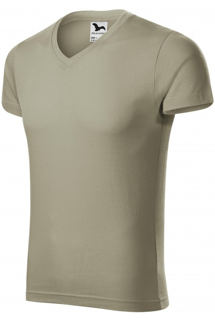 Men's tight-fitting T-shirt Light khaki