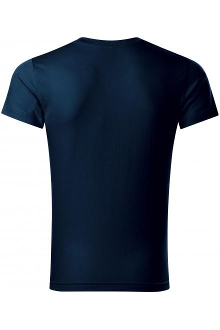 Navy blue men's tight-fitting T-shirt