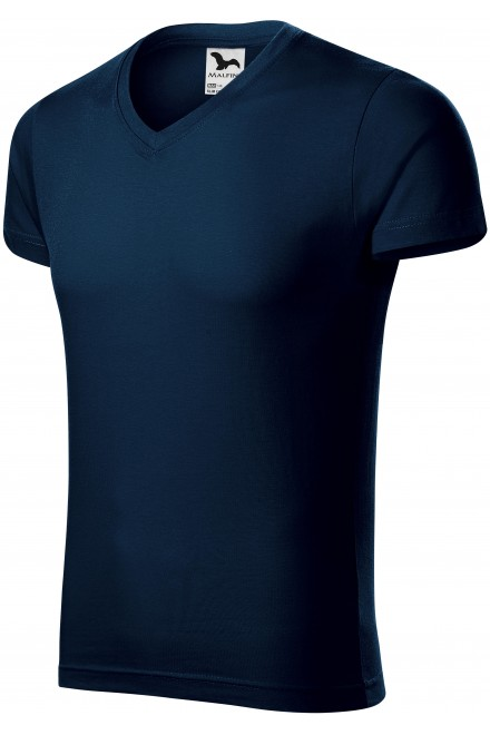 Men's tight-fitting T-shirt Navy blue
