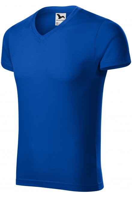 Men's tight-fitting T-shirt Royal blue