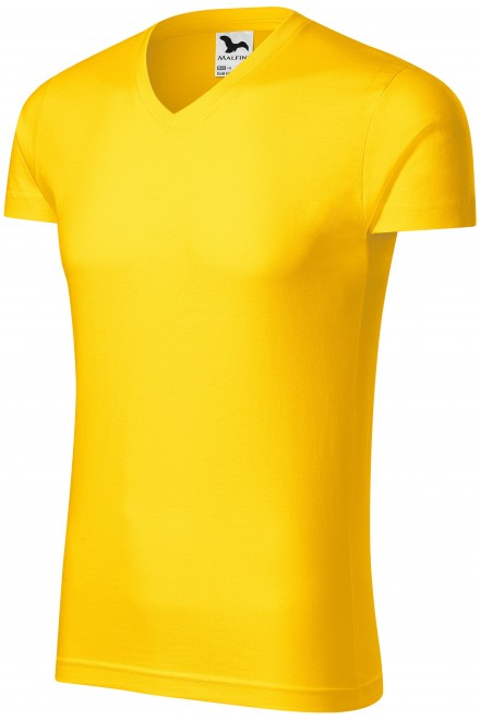 Men's tight-fitting T-shirt Yellow