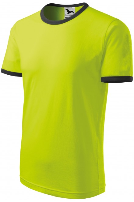 Childrens contrasting T-shirt Lime green