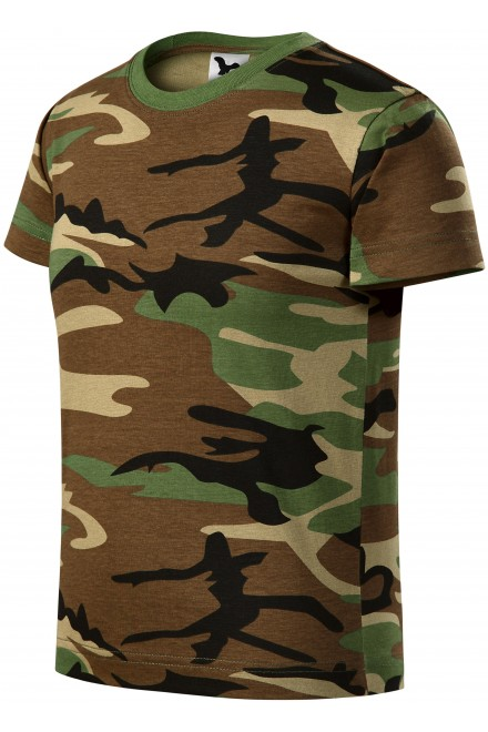 Camouflage childrens T-shirt Camouflage gray