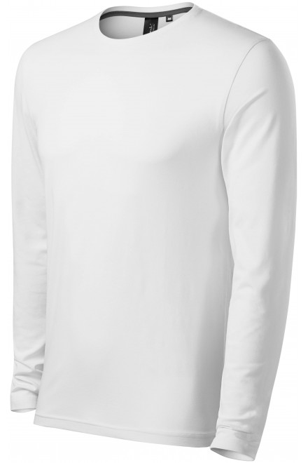 Close fitting men's t-shirt with long sleeves White