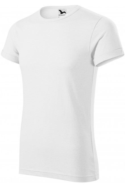 Men's T-shirt with rolled sleeves White