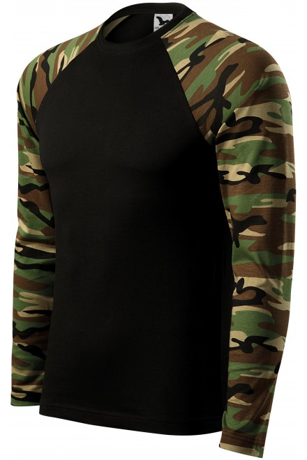 Camouflage t-shirt with long sleeves Camouflage brown
