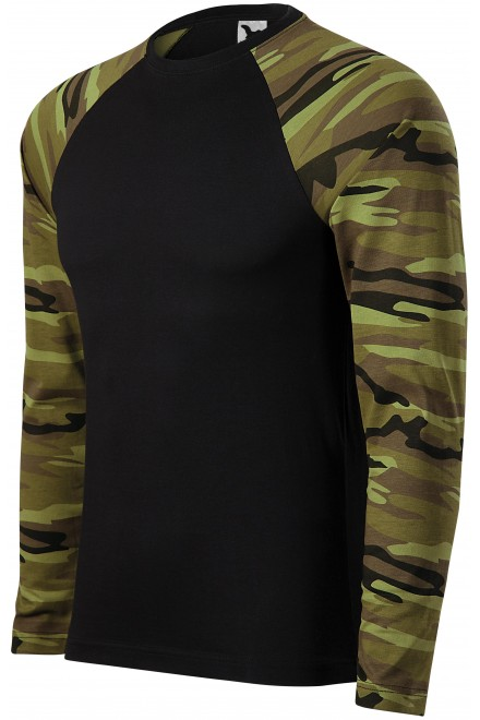 Camouflage t-shirt with long sleeves Camouflage green
