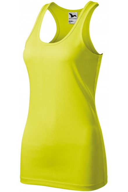 Ladies sports top Neon yellow