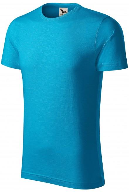 Men's t-shirt, textured organic cotton Bblue atol