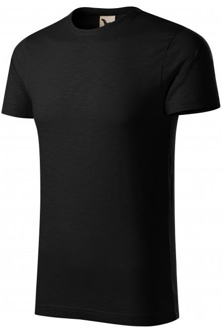 Men's t-shirt, textured organic cotton Black