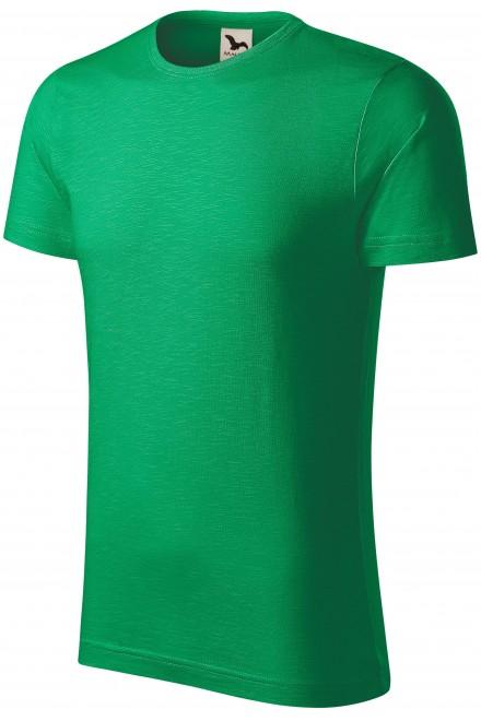Men's t-shirt, textured organic cotton Kelly green