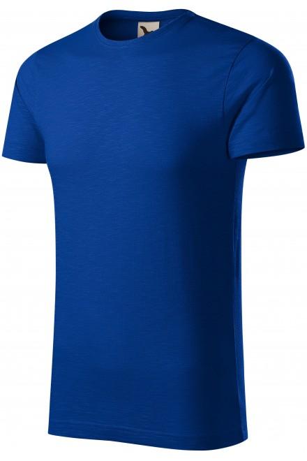 Men's t-shirt, textured organic cotton Royal blue