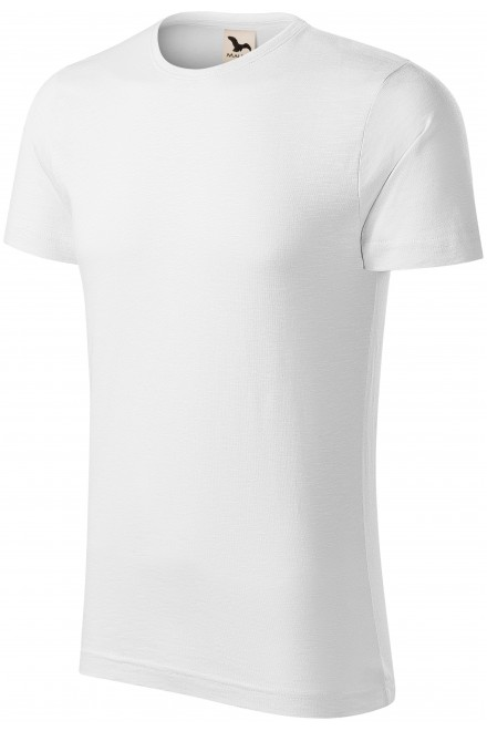 Men's t-shirt, textured organic cotton White