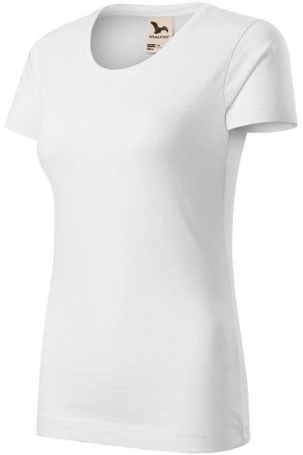 Women's T-shirt, textured organic cotton White