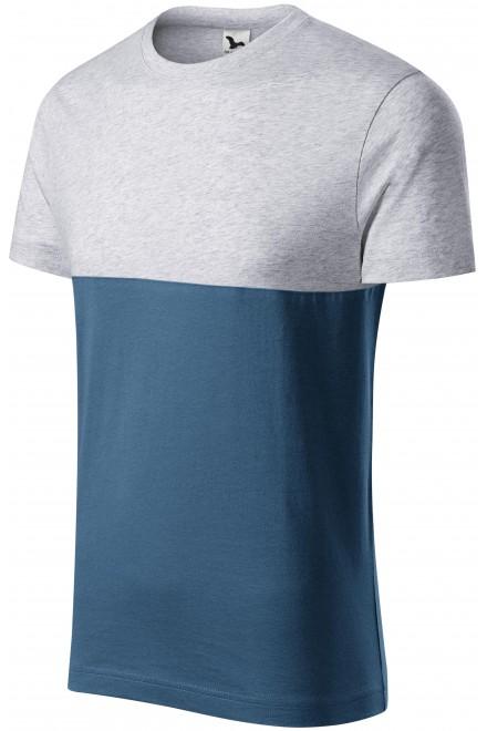 Two-color T-shirt Ash melange
