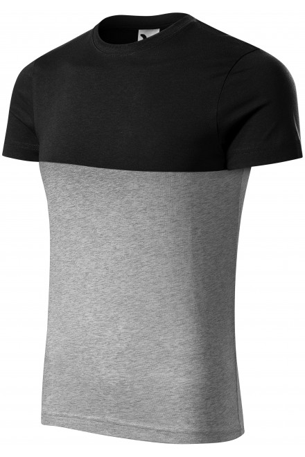 Two-color T-shirt Black