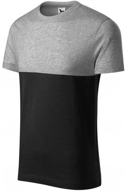 Two-color T-shirt Dark gray melange