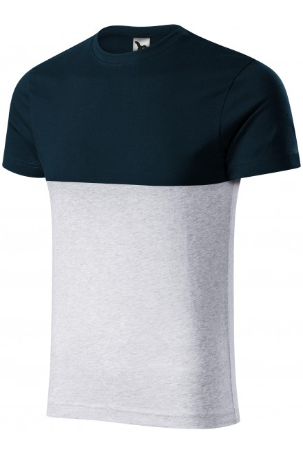 Two-color T-shirt Navy blue