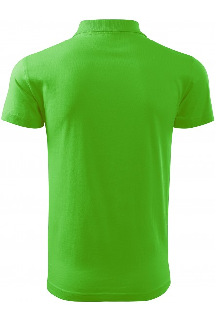 Apple green men's simple polo shirt