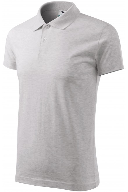 Men's simple polo shirt Ash melange