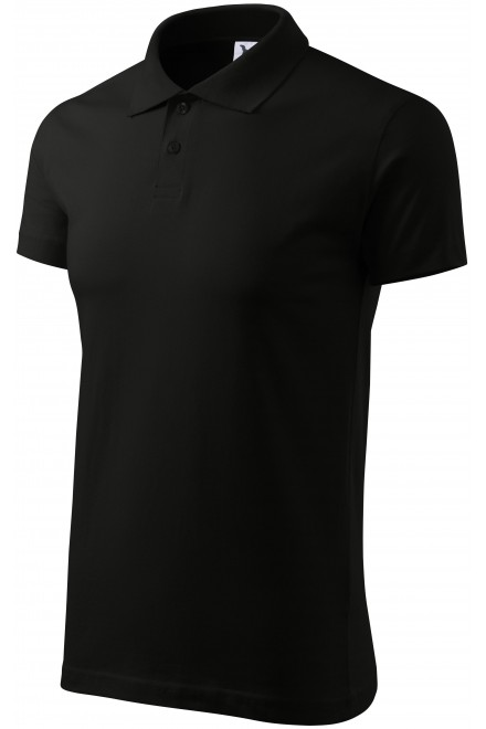 Men's simple polo shirt Black