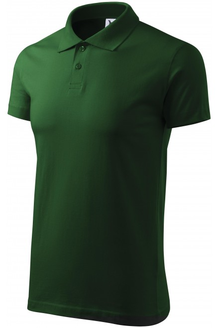 Men's simple polo shirt Bottle green
