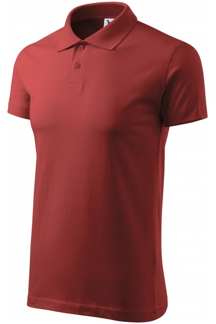 Men's simple polo shirt Apple green