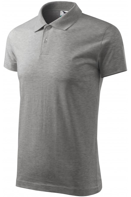 Men's simple polo shirt Dark gray melange