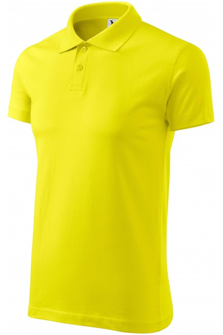 Men's simple polo shirt Lemon