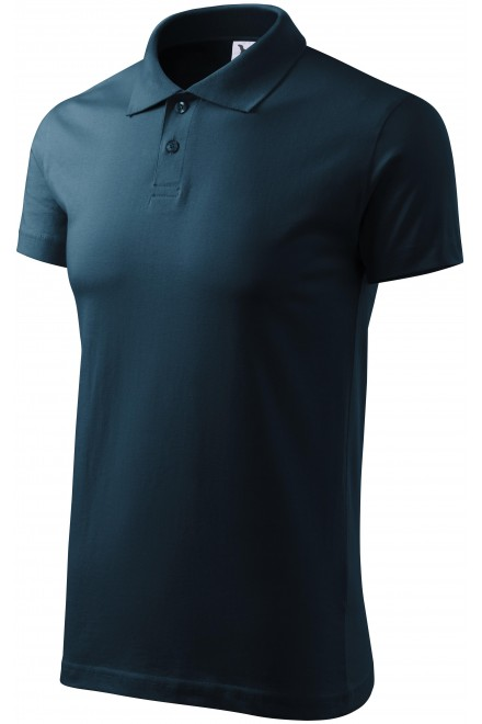 Men's simple polo shirt Navy blue