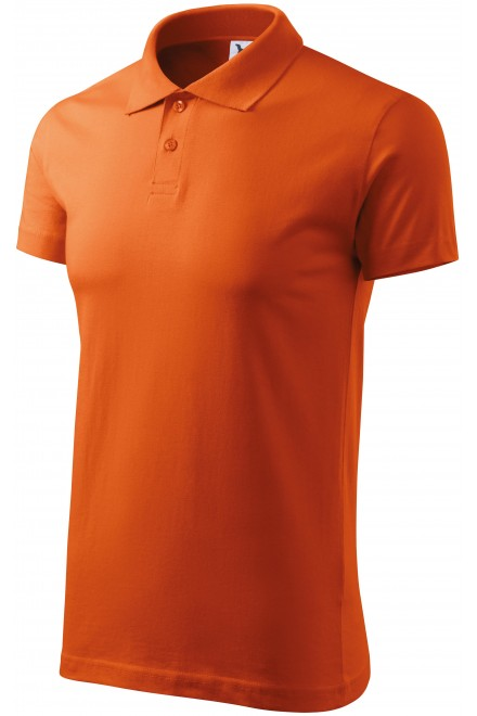 Men's simple polo shirt Orange