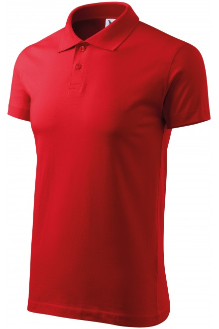 Men's simple polo shirt Red
