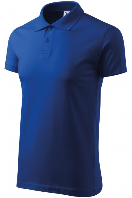 Men's simple polo shirt Royal blue