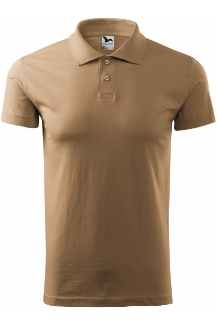 One-color cotton polo shirts
