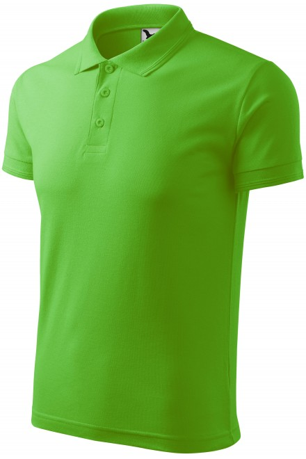 Men's loose polo shirt Apple green