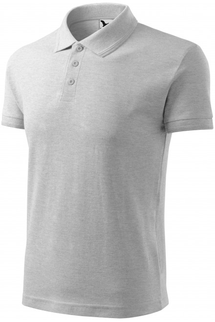 Men's loose polo shirt Ash melange