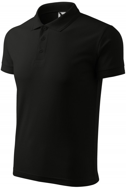 Men's loose polo shirt Black