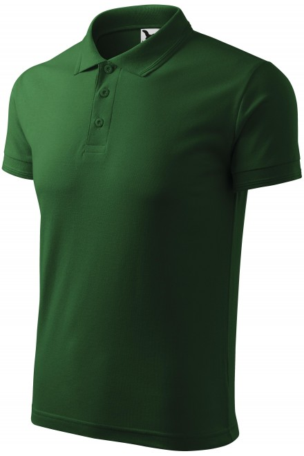 Men's loose polo shirt Bottle green
