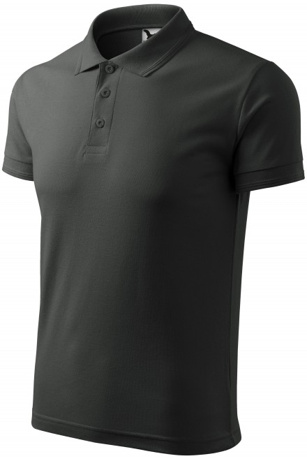 Men's loose polo shirt Castor gray